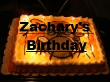 Click the image above to see the pictures of Zachary's birthday