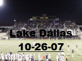 Click the image above to see the pictures from the Lake Dallas Game