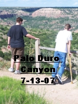 Click the image above to see the boys visiting Palo Duro Canyon