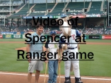 Click the image above to see the video of Spencer's night with the Rangers