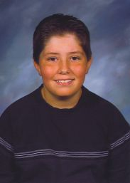 Zachary's school picture, first year in middle school