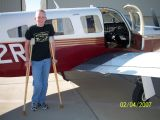 Spencer in front of the plane